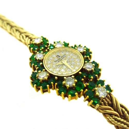 Vintage Diamond & Emerald Watch