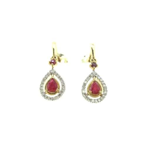 Ruby & Diamond Earrings