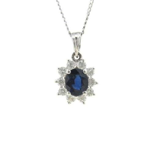 Sapphire & Pendant Necklace