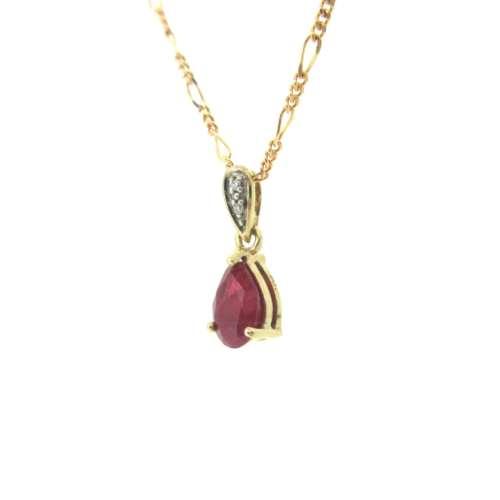 Ruby & Diamond Necklace