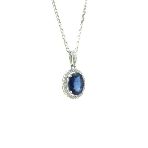 Diamond & Sapphire Necklace