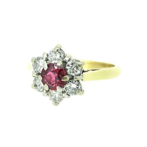 Vintage Ruby & Diamond Ring