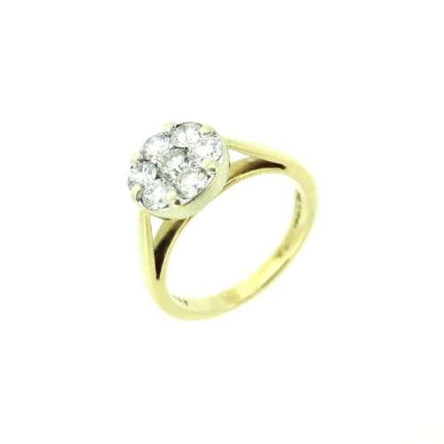 Seven Stone Diamond Daisy Cluster