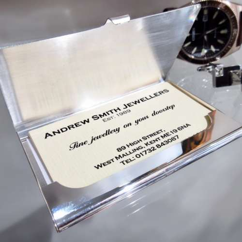 Silver Plated Credit/Business card Holder