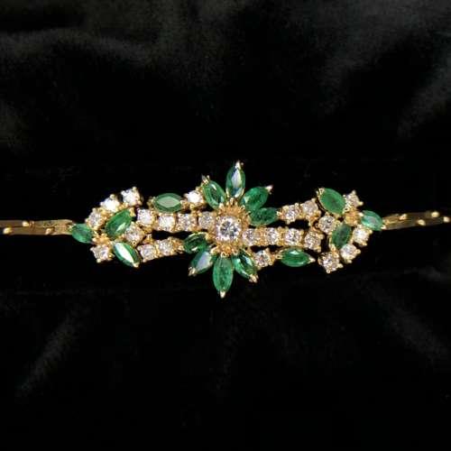 Emerald & Diamond Bracelet