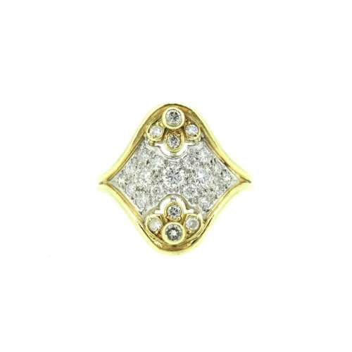 Vintage Diamond Fancy Cluster Ring