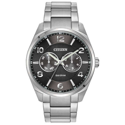 Gents Eco-Drive Stainless Steel Watch