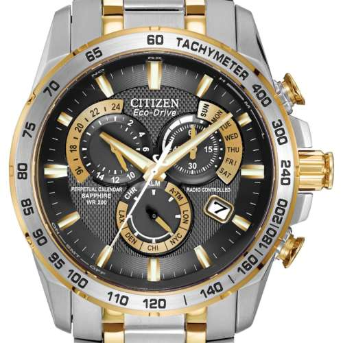 Gents Eco-Drive Stainless Steel Two-Tone Watch