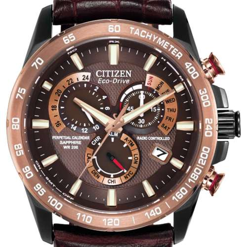 Gents Eco-Drive Perpetual Chronograph