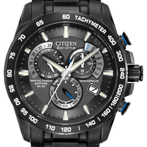 Gents Eco-Drive Perpetual Chronograph Watch