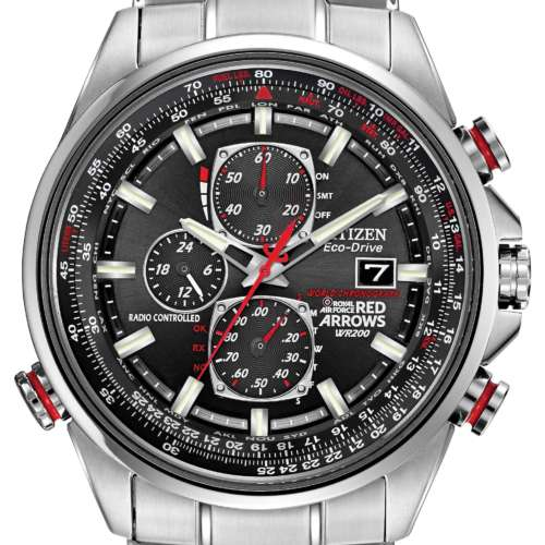 Gents Eco-Drive Red Arrows World Chronograph Watch