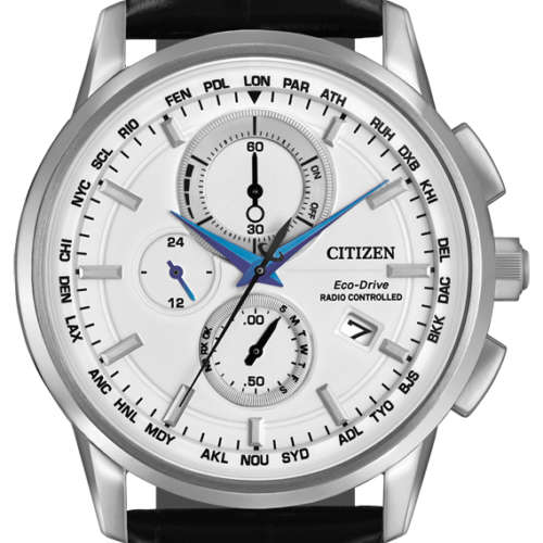 Gents Eco-Drive World Chronograph Watch