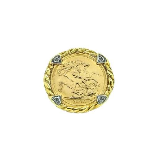 Half Sovereign Diamond Ring