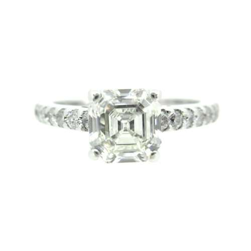 Asher Cut Diamond Solitaire Ring