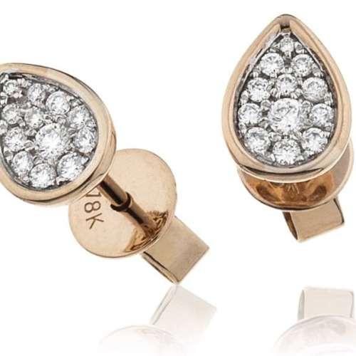 Diamond Pear-drop Cluster Earrings