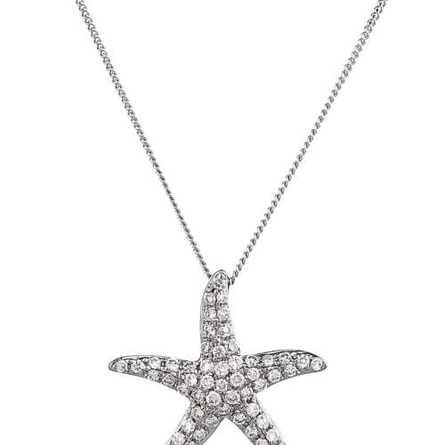Diamond Star-fish Necklace