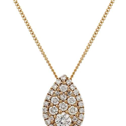 Diamond Pear-drop Necklace