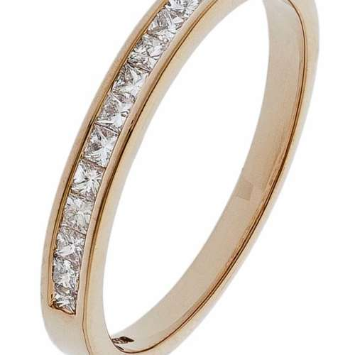 Rose Gold Half Eternity Ring