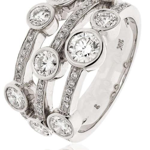 Diamond Multi-Strand Ring