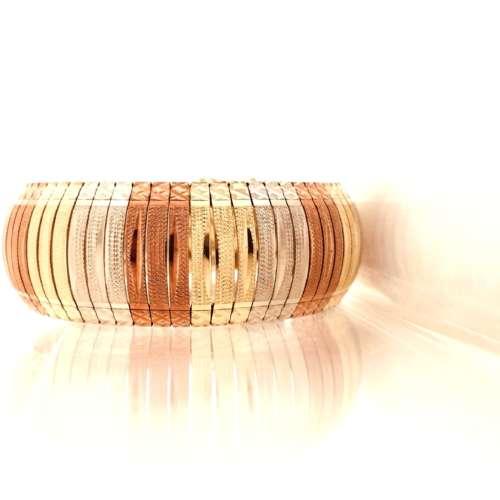 Tri-Colour Gold Bracelet