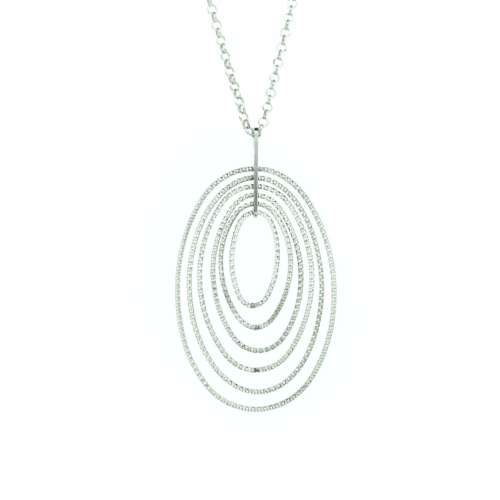 Diamond Cut Silver Necklace