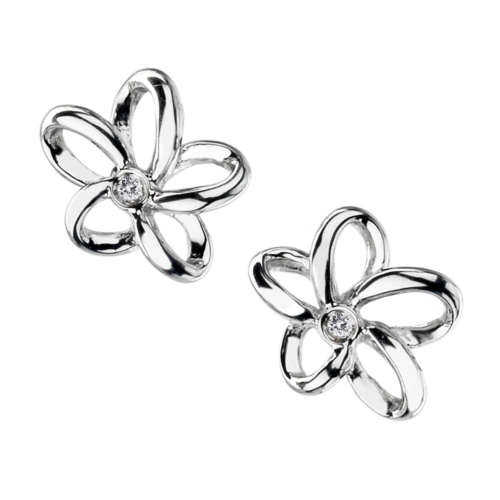 Open Petal Earrings