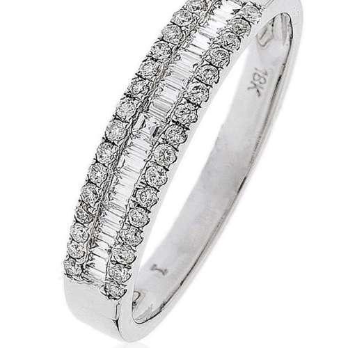 Diamond Half Eternity Ring