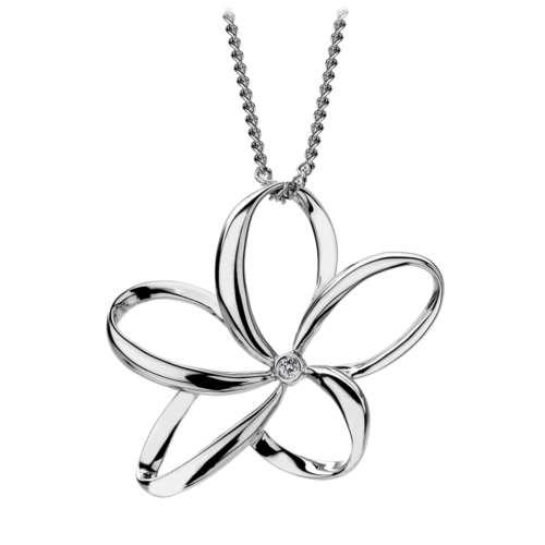 Large Open Petal Necklace