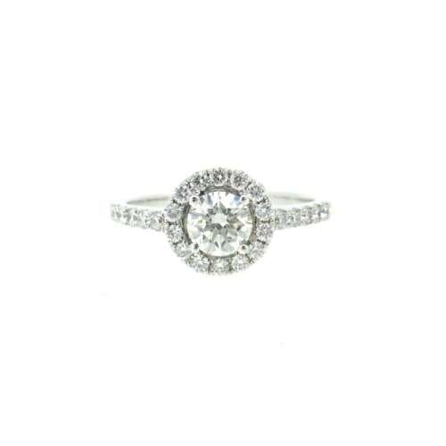 Diamond Solitaire Halo Ring