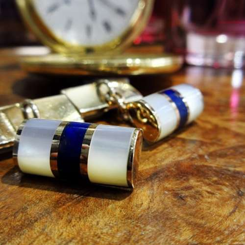Gold & Lapis Cufflinks