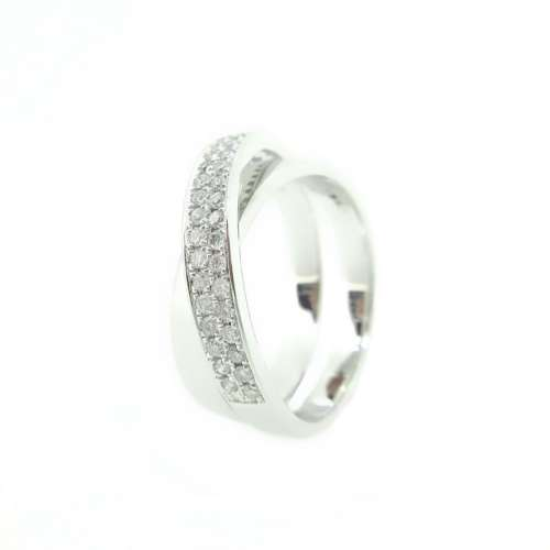Diamond Crossover Eternity Band