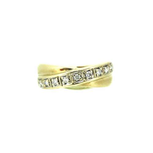 Diamond Crossover Half Eternity Ring
