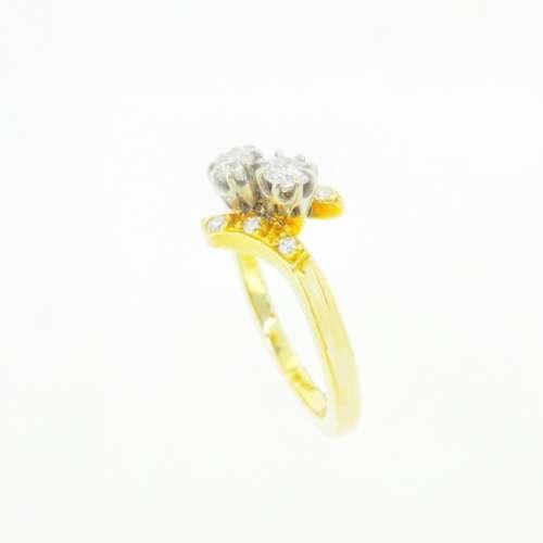 DIAMOND TWIST FRONT RING