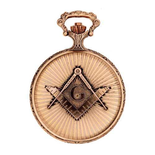 Masonic Hunter Pocket Watch