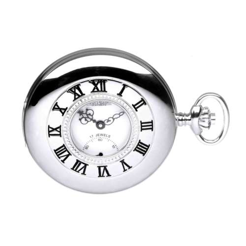 Silver Half Hunter Pocket Watch