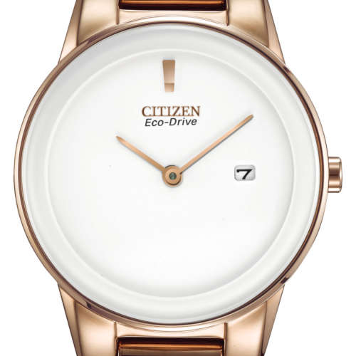 Ladies Eco-Drive Rose Gold Colour Watch