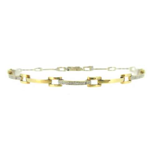 Gold & Diamond Bar Bracelet