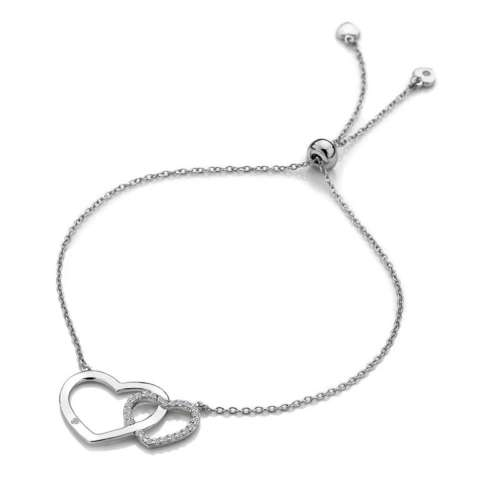 Bliss Interlocking Heart Bracelet