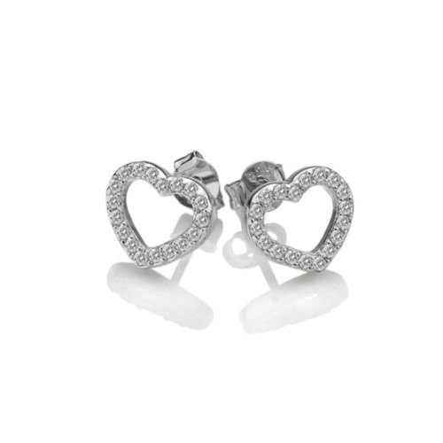 Bliss Heart Stud Earrings