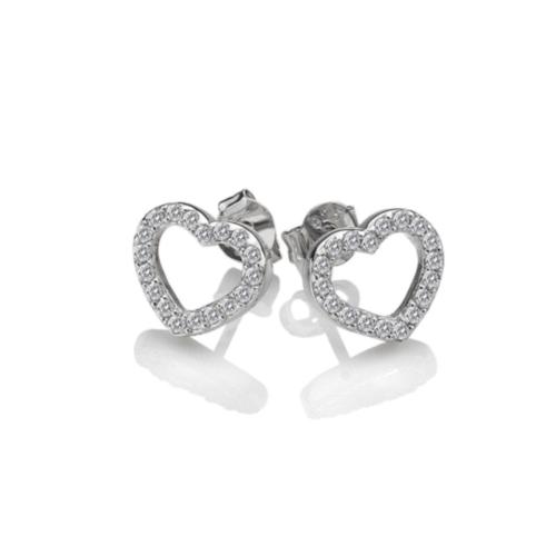 Bliss Heart Stud Earrings