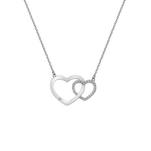 Bliss Interlocking Hearts Necklace