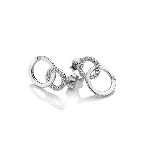 Bliss Interlocking Circle Stud Earrings