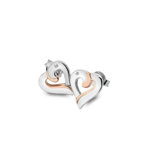 Together Heart Stud Earrings