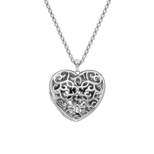 Shelter Large Heart Filigree Locket
