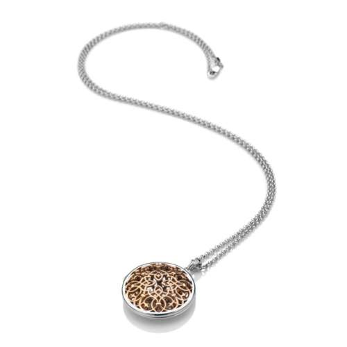 Shelter Large Filigree Circle Pendant