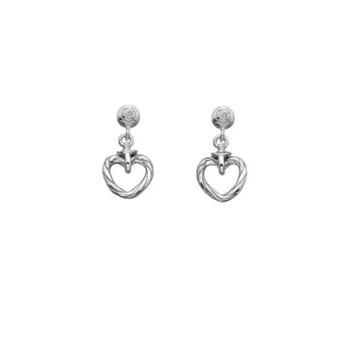 Breeze Heart Stud Earrings