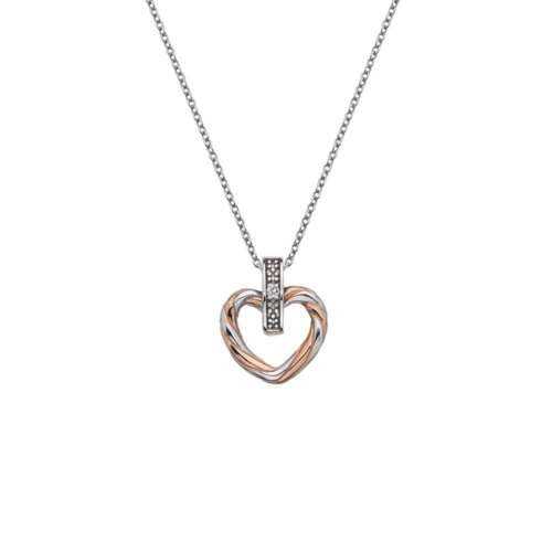 Breeze Heart Pendant Rose Gold Plated Accents