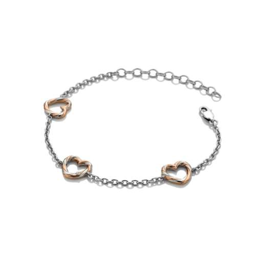 Breeze Heart Bracelet With Rose Gold Plate Accents