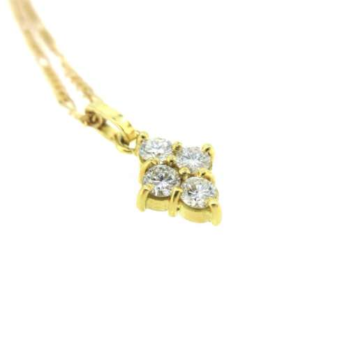 Four Stone Diamond Necklace