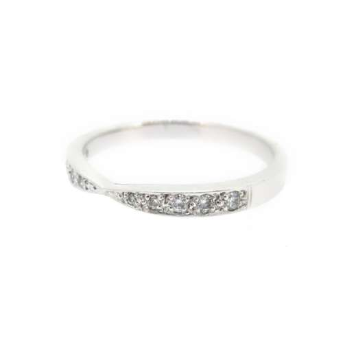 Shaped Diamond Wedding Ring